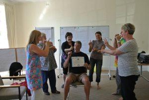 Laughter Yoga Leader Training...awarding certificates